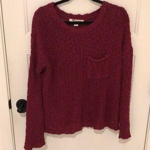 roxy maroon knitted sweater